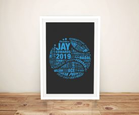 Tennis Ball Custom Shape Art Word Cloud