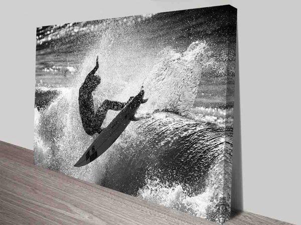 Surf Scene Photo Canvas Art Print Australia