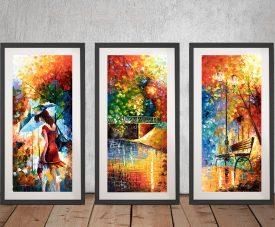 Buy Aura of Autumn 3-Panel Wall Art by Leonid Afremov