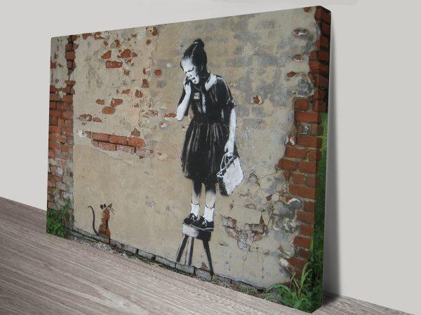 Banksy Rat Girl wall art