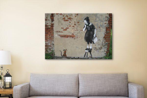 Rat Girl Banksy Framed Wall Art