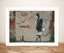 Banksy Rat girl Framed Wall Art