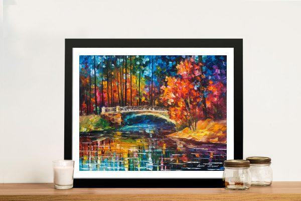 Buy Flowing Under the Bridge Canvas Wall Art