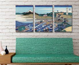 Buy Fuji From Kanaya Triptych Canvas Artwork