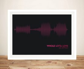 Led Zeppelin Whole Lotta Love-Soundwave Framed Pictures