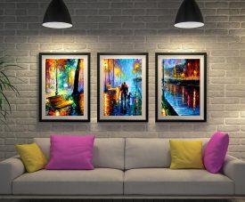 Buy Leonid Afremov Triptych Art Cheap Online