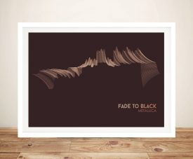 Buy Fade to Black a Metallica Soundwave Canvas Print