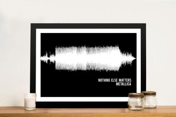 Metallica Nothing Else Matters Soundwave Art Brisbane