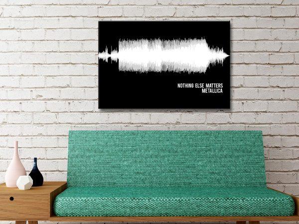 Metallica Nothing Else Matters Soundwave Canvas Artwork