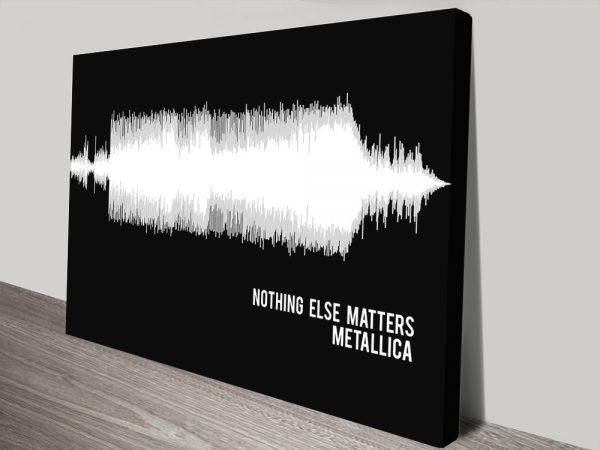 Metallica Nothing Else Matters Soundwave Canvas print Sydney