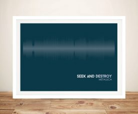 Buy Seek & Destroy Soundwave Canvas Art