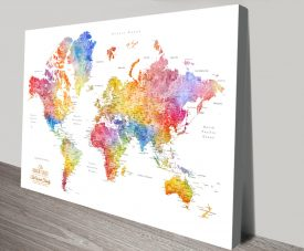Personalised Push Pin Maps