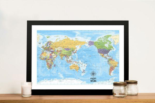 Personalised Australia-Pacific Travel Map