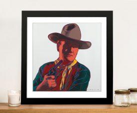 John Wayne by Andy Warhol Wall Art Print