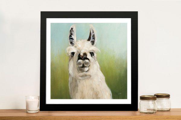 Buy a Whos Your Llama Sweet Animal Canvas Print