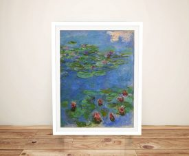 Buy Red Water Lilies Canvas Wall Art by Monet