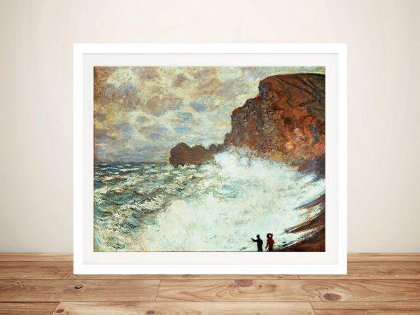Buy Rough Weather at Étretat Classic Art Prints