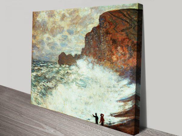 Buy Rough Weather at Étretat Classic Canvas Art Online