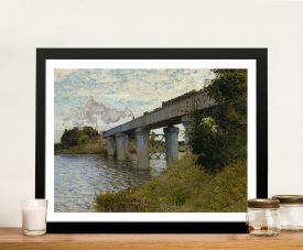 Buy The Railway Bridge at Argenteuil Canvas Art