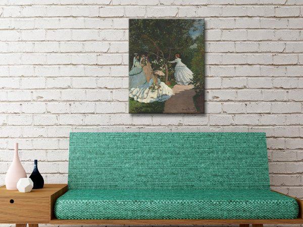 Buy Women in the Garden Cheap Monet Canvas Prints