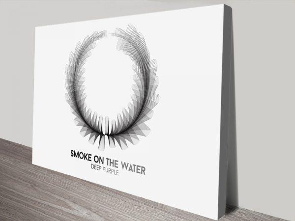 Buy Deep Purple Soundwave Wall Art Great Gift Ideas AU