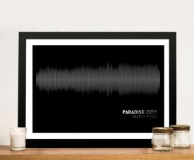 Buy Paradise City Soundwave Canvas Artwork