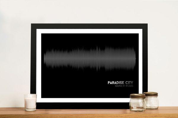 Buy Paradise City Soundwave Canvas Artwork