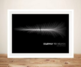 Led Zeppelin Stairway to Heaven Waveform Framed Wall Art