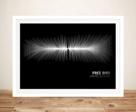 Buy a Soundwave Print of Free Bird by Lynyrd Skynyrd