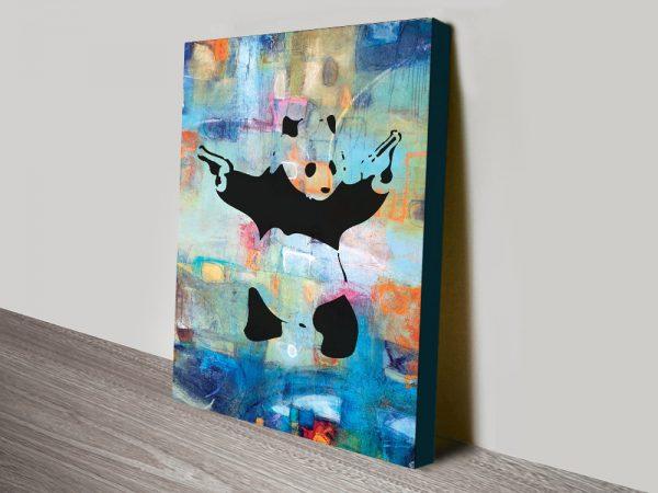 Buy Panda Summer of Love Colourful Canvas Art AU