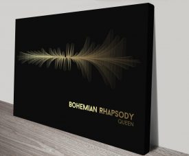 Queen Bohemian Rhapsody Waveform Canvas Artwork