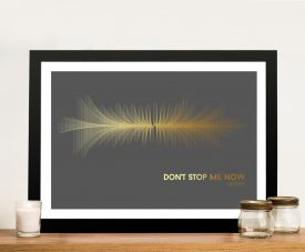 Buy a Soundwave Print of Queen's Don't Stop Me Now