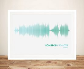 Buy Somebody to Love Soundwave Canvas Art