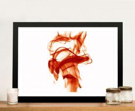 Red Swirls Framed Wall Art