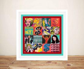 Buy Retro Pop Art 4 Stunning Framed Pop Art Prints