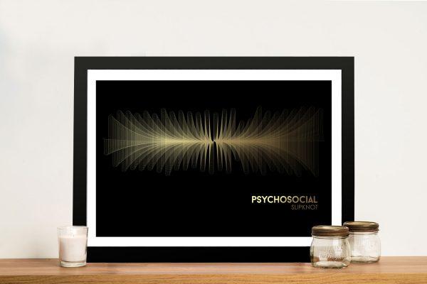 Buy SlipKnot Framed Canvas Soundwave Wall Art