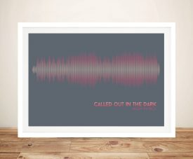 Buy Called Out in the Dark Soundwave Wall Art
