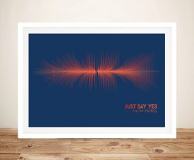 Buy a Just Say Yes Snow Patrol Canvas Soundwave Print