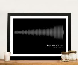 Snow Patrol Open Your Eyes- Linear Soundwave Wall Art