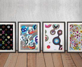 Buy a Mixed Takashi Murakami Four Panel Set