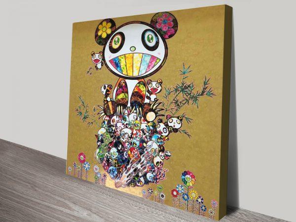 Buy a Canvas Print of Panda Family Cheap Online