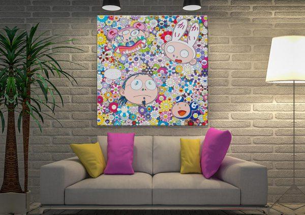 Takashi Murakami The Creative Mind Canvas Artwork