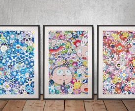 Buy a Takashi Murakami Mixed Prints Triptych Set
