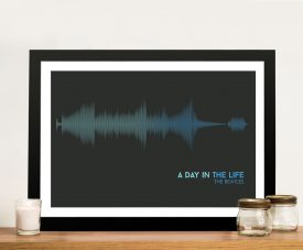 Buy The Beatles Soundwave Canvas Wall Art