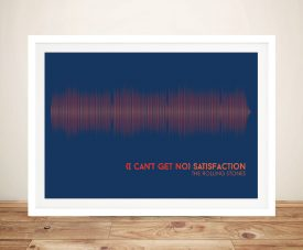 Buy The Rolling Stones Satisfaction Soundwave Art