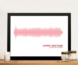 Buy a Soundwaves Print of Jumpin' Jack Flash