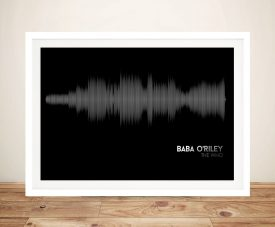 Buy Baba O'Riley by The Who Soundwave Wall Art