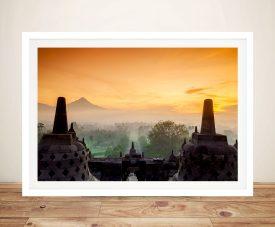 Buy a Borobudur Temple in Java Framed Print