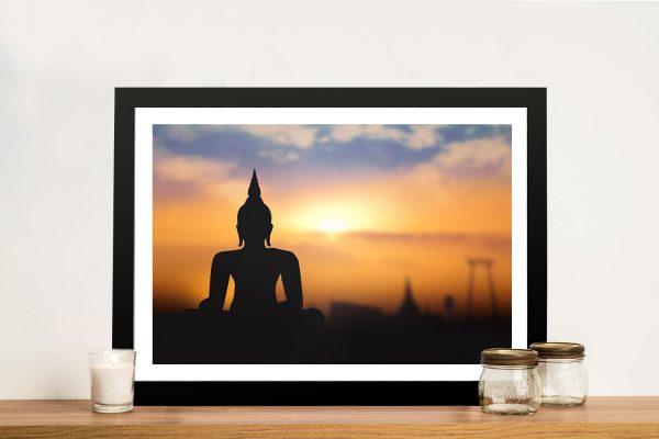 Buddha Sunrise Framed Wall Art