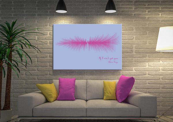 If I ain't got you by Alicia Keys Soundwave Canvas